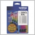 Brother 3PK CYAN MAGENTA YELLOW INK CARTRIDGES 1200 PAGES EA.