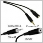CABLE-STEREO 3.5MM MINI-PLUG M/F -12 FT