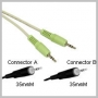 CABLE-STEREO 3.5MM MINI-PLUG M/M - 12 FT