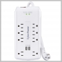 CyberPower SURGE PROTECTOR 3200J 8OUT 2USB 2.4A 6FT