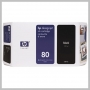 HP NO 80 LG BLACK INK 350ML DESIGNJET 1050C 1055CM