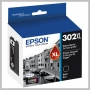 Epson T302XL BLACK INK W/SENSOR