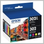 Epson T302XL BLACK + STANDARD COLORS CMYPK