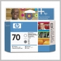 HP 70 GLOSS ENHANCER & GRAY PRINTHEAD