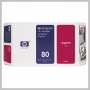 HP NO 80 LG MAGENTA INK 350ML DESIGNJET 1050C/10