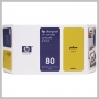 HP NO 80 LG YELLOW INK 350ML DESIGNJET 1050C/1055CM