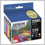 Epson DURABRITE ULTRA 220XL BLACK AND 3-COLOR INK CARTRIDGES