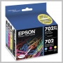 Epson T702XL BLACK AND COLOR INK CARTRIDGES