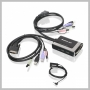 IOGear 2PORT USB DVID CABLE KVM SWITCH W/ AUDIO & MIC