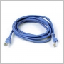 ETHERNET CAT5E PATCH CABLE BLUE 1 FOOT