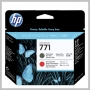 HP NO 771 MATTE BLACK & CHROMATIC RED DESIGNJET PRINTHEAD