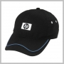 HP LOGO BLACK BRUSHED COTTON CAP