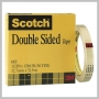3M SCOTCH DOUBLE-SIDED CLEAR TAPE 1/2IN X  1296IN - 3IN CORE