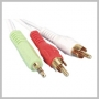 AUDIO 2 RCA M TO 3.5MM STEREO M - 12 FT