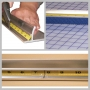 ALUMINUM SAFETY RULER 28IN