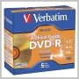 Verbatim DVD-R 8X ARCHIVAL GOLD SHINY 5PK JC